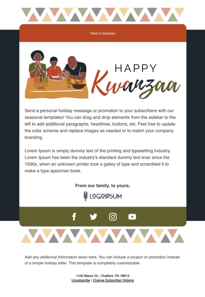 Happy Kwanzaa email template