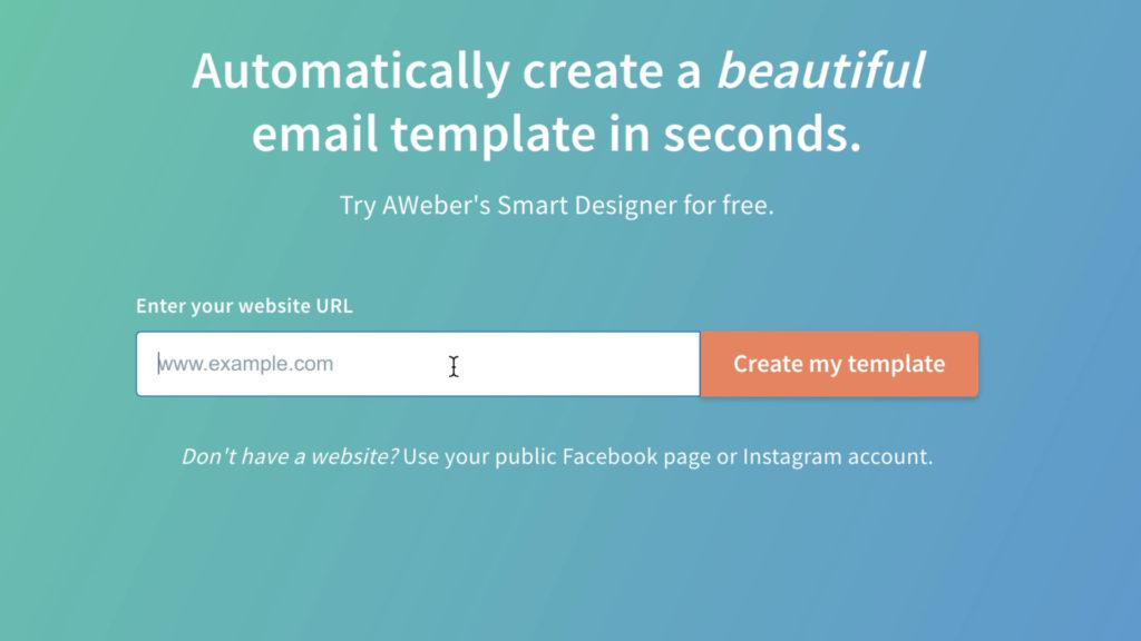 AWeber Smart Designer home page