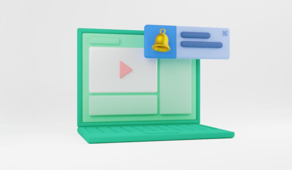 Where web push notifications appear on a desktop screen.