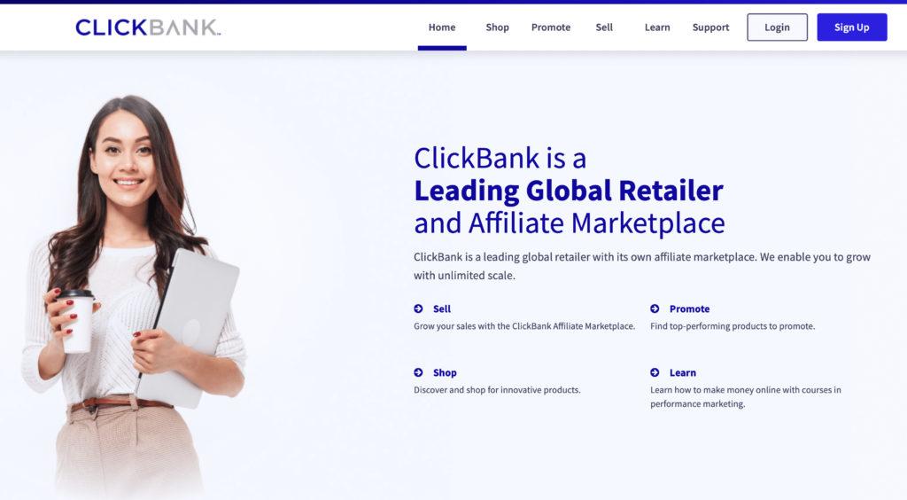 ClickBank ecommerce integration landing page