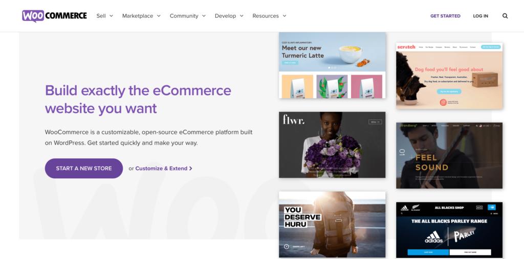 WooCommerce ecommerce integration landing page