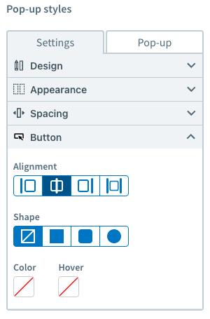customize pop up form