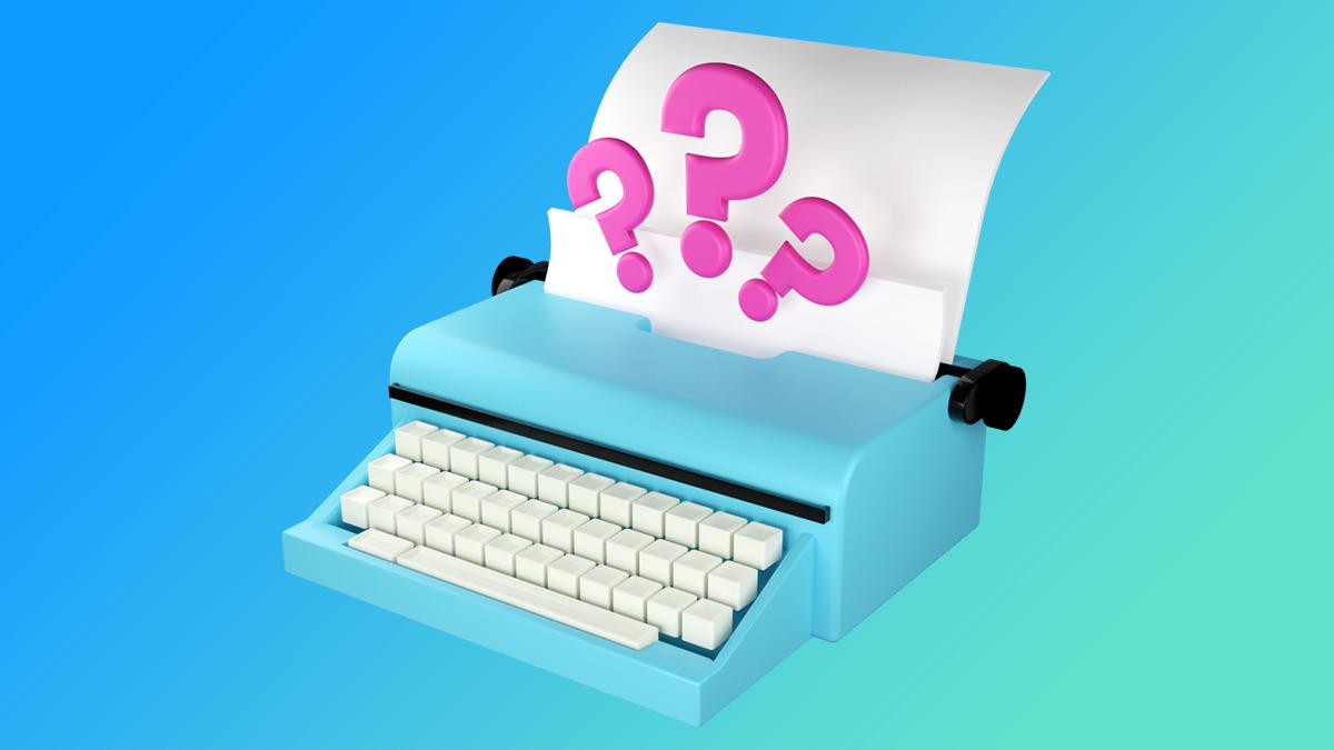 A typewriter starting a newsletter.