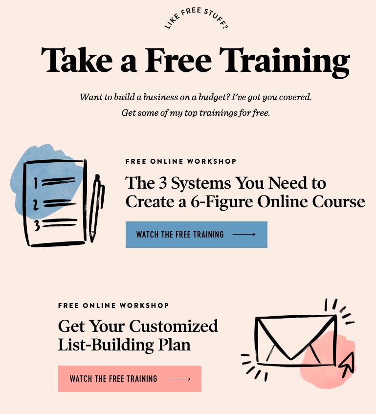 free training lead magnet