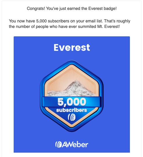 milestone email