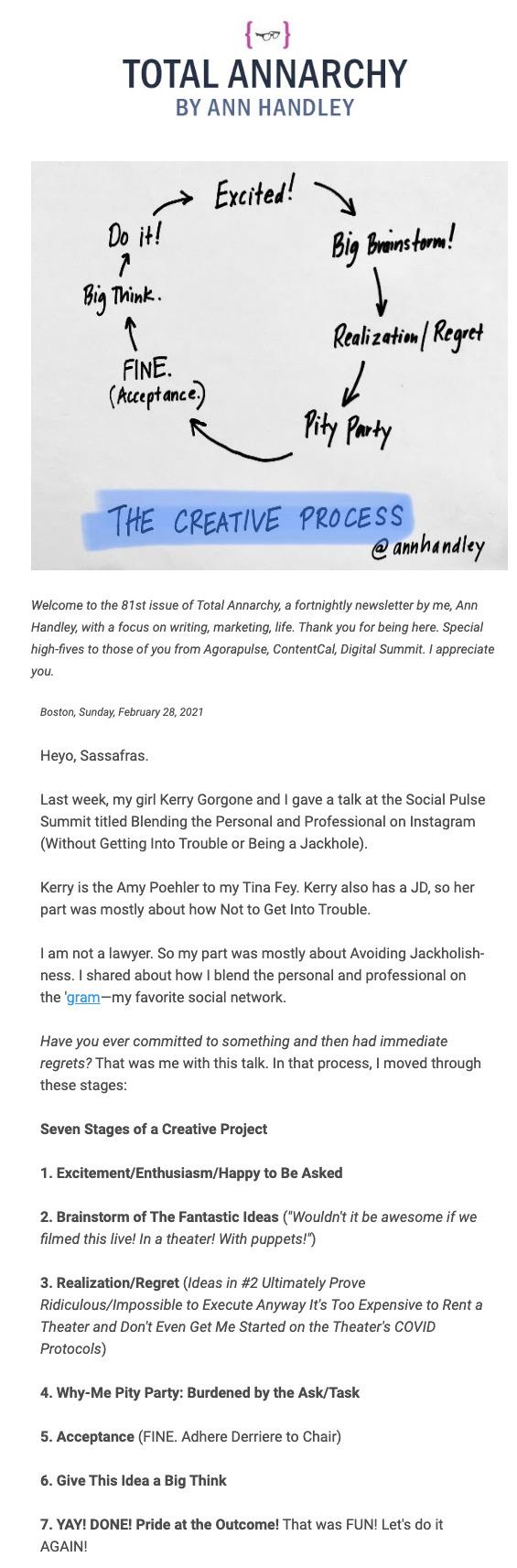 long newsletter example