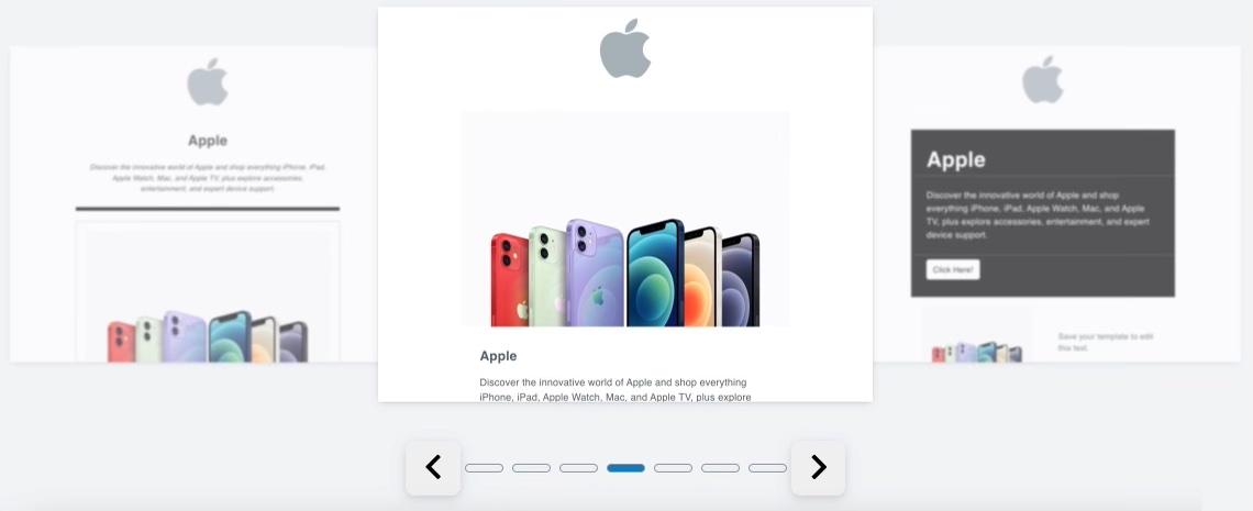 The smart designer options when you plug in apple.com.
