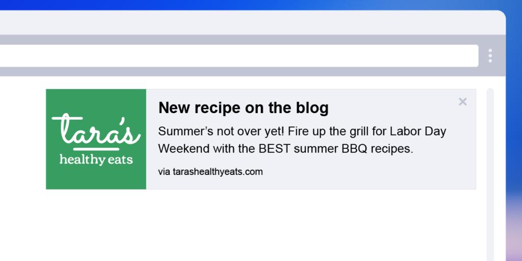 Web push notification new blog post